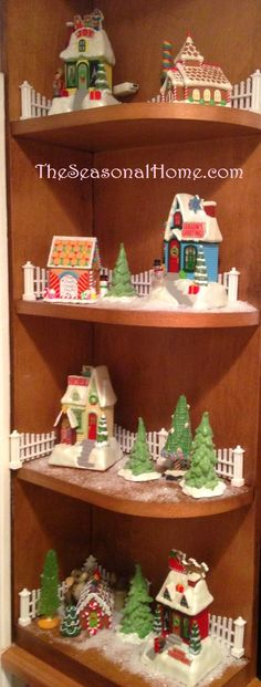 from the seasonal home dont you just love how they are displayed amanda sutton my hallmark christmas village - Hallmark Christmas Village