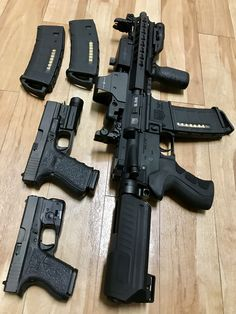 DB-15 Pistol and my two Glocks