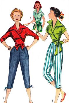 Vintage Sewing Pattern 1950s Simplicity 4255 Wrap by paneenjerez, $30.00