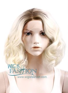"""10""""-20"""" Long Curly Wavy Black Mixed Light Blonde Ombre Lace Front Wig  http://www.wigisfashion.com/collections/lace-front-wigs/products/lf771"""