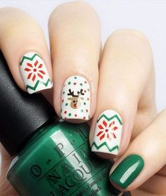 27 Festive and easy Christmas nail art designs you must see and try this holiday season.Capture the holiday spirit with these Christmas nail art ideas. Cute Christmas Nails, Christmas Manicure, Xmas Nails, Holiday Nails, Christmas Ideas, Christmas Christmas, Christmas Colors, Simple Christmas, Red And Gold Nails
