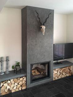 Living Room Decor Fireplace, Home Fireplace, Modern Fireplace, Fireplace Design, Living Room Tv Unit Designs, Home Design Living Room, Dining Room Design, Minimalist Fireplace, Dining Room Paint Colors
