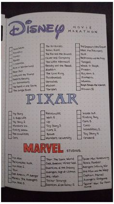 Netflix Movie List, Netflix Movies To Watch, Movie To Watch List, Disney Movies To Watch, Film Disney, Good Movies To Watch, List Of Pixar Movies, Disney Films List, Marvel Movies List
