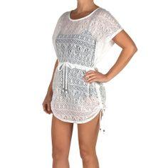 97d3e894b5 Catalina Women s Crochet Flutter-Sleeve Swim Cover-Up Swim Cover