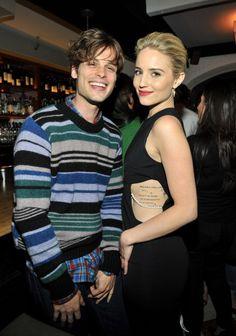 Matthew Gray Gubler and Dianna Agron <3 #CriminalMinds #Glee