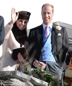 The Duke and Duchess of Cambridge and Prince Harry attended a society wedding in Switzerland on 2 March 2013.
