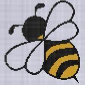 Bee 6 Cross Stitch Pattern - via @Craftsy