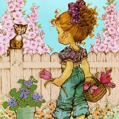 sarah kay - Page 2 Holly Hobbie, Sara Key Imagenes, Tattoo Painting, Hobby Lobby Wall Art, Sara Kay, Foto Art, Paper Background, Cute Wallpapers, Vintage Art