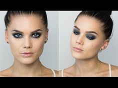 Smokey look with eyepencil Only (with subs) - Linda Hallberg Makeup Tuto. Brown Smokey Eye Tutorial, Smokey Eye For Brown Eyes, Smokey Eye Makeup Tutorial, Formal Eye Makeup, Subtle Makeup, Dramatic Makeup, Gorgeous Makeup, Pretty Makeup, Face Brush Set
