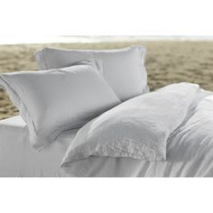 Our Relaxed Linen is minimally processed and never starched, so it starts out soft and drapey and only gets better with use and laundering. Together the Duvet Cover, Shams and Sheets create a bed that maximizes linen's remarkable breathability, d Linen Sheets, Linen Duvet, Bed Sheets, Down Pillows, Bed Pillows, Bed Linens, Organic Duvet Covers, Cool Beds, Sheet Sets