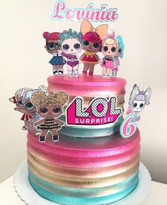 Le plus récent Aucun coût torta lol Idées Doll Birthday Cake, Funny Birthday Cakes, Cookie Cake Birthday, 6th Birthday Parties, Girl Birthday, Bolo Laura, Lol Doll Cake, Surprise Cake, Doll Party