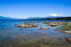 Chile. Lago y volcan Villarrica