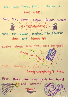 One, two, three, four, I declare a time war...