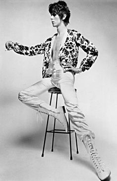 David Bowie works a fancy bomber jacket. Photograph: Everett Collection/Rex Feature