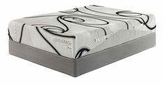 Neon - 12 Series Memory Foam White Queen Mattress w/Foundation