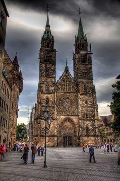 Nuremberg Germany Churches   St. Lorenz church in Nuremberg, Germany