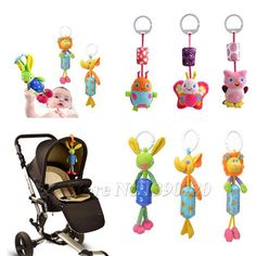 Activity & Gear Mother & Kids Baby Stroller Pendant Newborn Sleeping Infant Kids Plush Fish Cartoon Mirror Pacifier Hanging Bed Cute Toys Soft Squeaky Rattle Reasonable Price