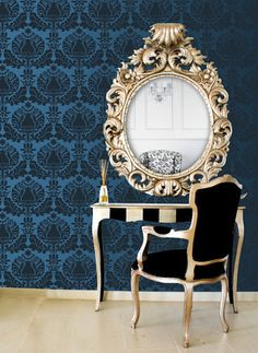 50% off 12/15/12 only! Wall Stencil | Corsini Damask Stencil | Royal Design Studio