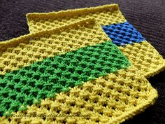 Knotted Openwork dishcloth