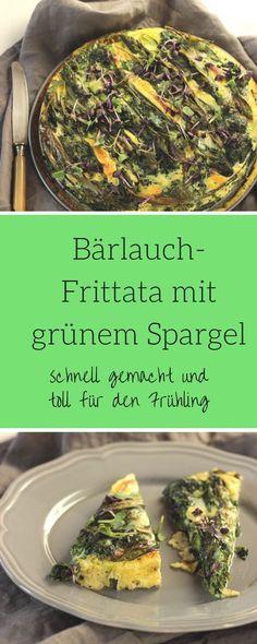 Bärlauch Rezepte - Spargel-Bärlauch-Frittata mit roter Rübenkresse - low carb und mega einfach zubereitet. Schnell und lecker schmeckt diese Tortilla - auch ein tolles Spargelrezept mit grünem Spargel #spargel #lowcarb