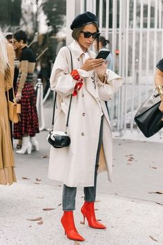 How to style red stiletto booties
