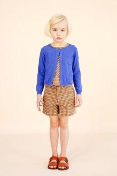 appledore cardigan, frinton top & falmouth shorts - caramel baby & child