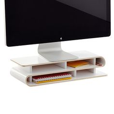 White up-rise!™ Desktop Organizer