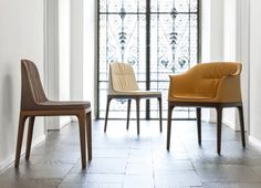 Upholstered MIVIDA Chairs by Angelo Tomaiuolo