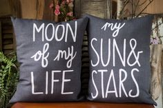 Pillow Set > Handmade Cotton Pillow > Moon Of My Life > My Sun & Stars > Hand Painted Quote Pillows > Decorative Pillow > Game of Thrones