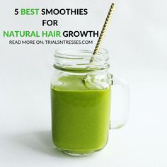 Natural Hair growth is based on a lot of things and what you eat is at the top of the list. Here are the 5 best smoothies for natural hair growth.