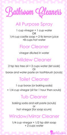 DIY Cheat-Sheet: All-Natural Bathroom Cleaner Recipes