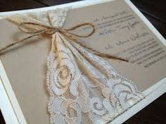 diy lace wedding invitations - Google Search