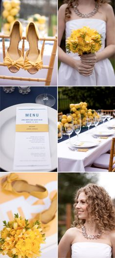 I absolutely love the table setting and her shoes!
