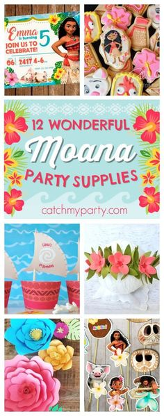 12 Wonderful Moana Birthday Party Supplies