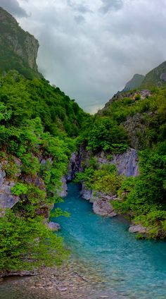 Albanian Alps - River Valbona comes out from the valley