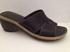 Aerosoles Shoes Womens Size 9 M Sandals Slides 9M Black Open Toe Heels