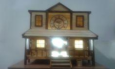 Cowboy house table lamp