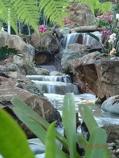 beautiful resort waterfall for your backyard, outdoor living, ponds water features