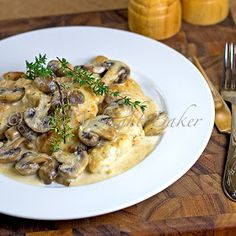 Mushroom Asiago Chicken. Gourmet meal on the table in about 30 minutes. Serve over any pasta.