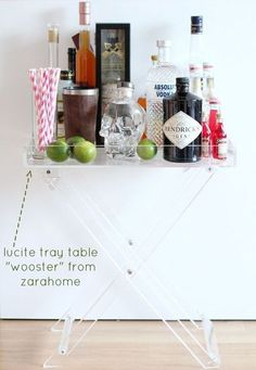 Lucite Tray Table From ZaraHome, Used As A Bar Tray   Bikinisandpassports