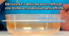 Des taches, des odeurs et même parfois du moisi peuvent s'incruster dans le plastique... Heureusement, il existe des astuces simples pour nettoyer vos boites Tupperware en profondeur.  Découvrez l'astuce ici : http://www.comment-economiser.fr/3-astuces-simples-pour-nettoyer-tupperwares-en-profondeur.html?utm_content=buffera8337&utm_medium=social&utm_source=pinterest.com&utm_campaign=buffer