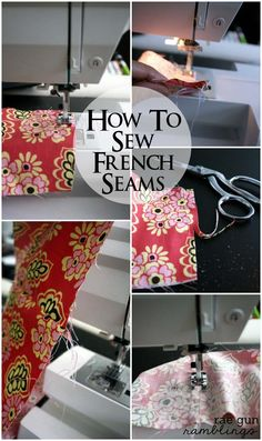 How to sew French seams great for sewing with sheer fabric - Rae Gun Ramblings