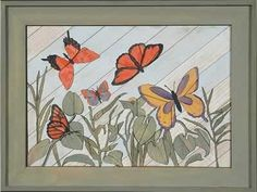 "Woodscape Art Kit Butterflies wood lathart 20"" x 14.5 (12/14/2011)"