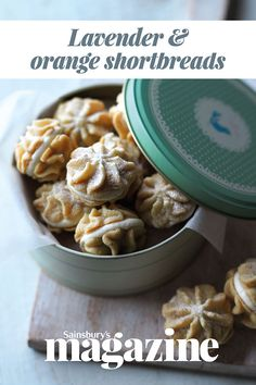 This recipe from Great British Bake Off winner Jo Wheatley combines lavender shortbreads with a zesty butter cream - why not fill a tin as an edible gift for Mother's Day?