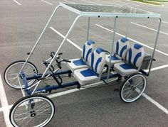 4-Person, 4-Wheel SOLARide Series Quadricycle | DO WANT! If I could close this in, maybe beef up the tires... I would drive it everywhere.