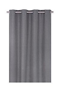 SQUARE WEAVE 145X250CM EYELET CURTAIN