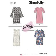 Simplicity Pattern 8293 Misses'/Miss Petite by GGselections