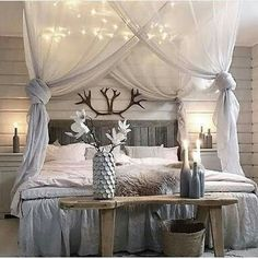 Creative and Simple DIY Bedroom Canopy Ideas on A Budget - fancydecors & My bed after I hung the homemade canopy and sheer curtains on the ...
