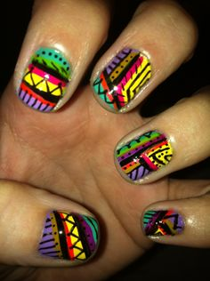 Aztec nails. Absolutely. Incredible.
