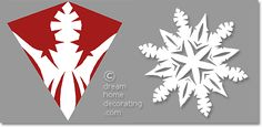 six-pointed paper snowflake pattern
